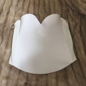 Strapless corset bra